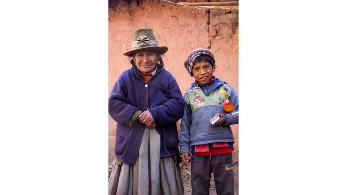 Grand-mère et son petit-fils Rolfi