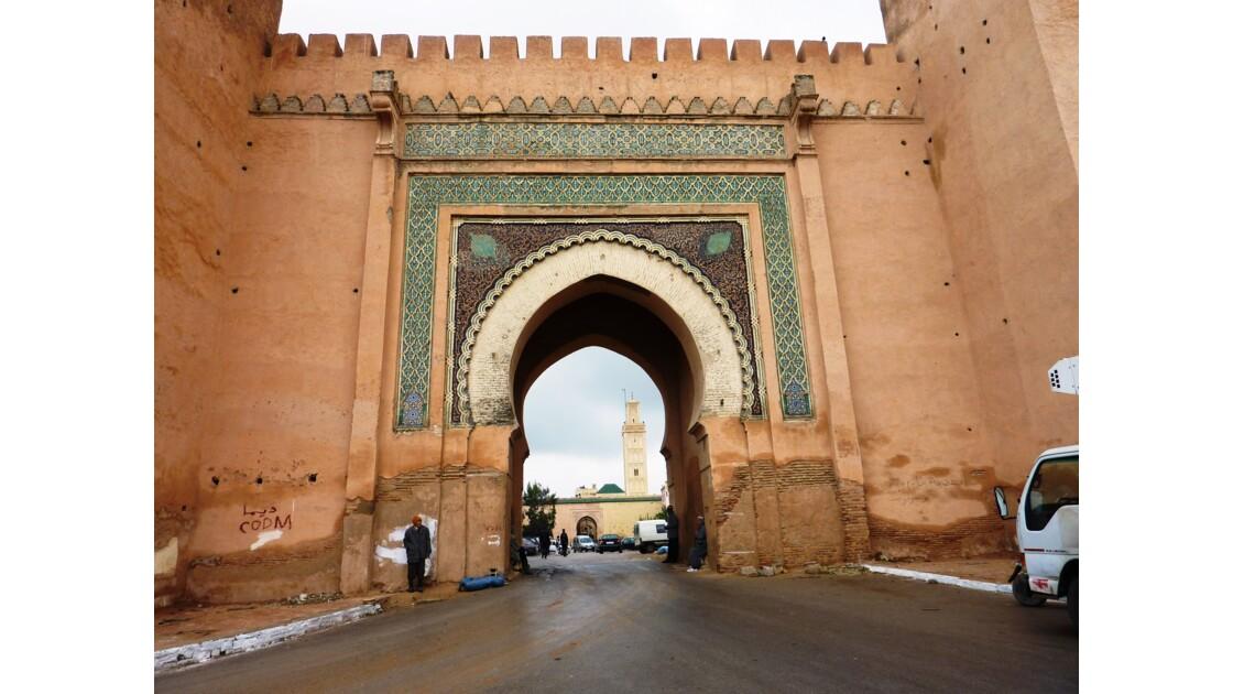 Porte monumentale de Meknès