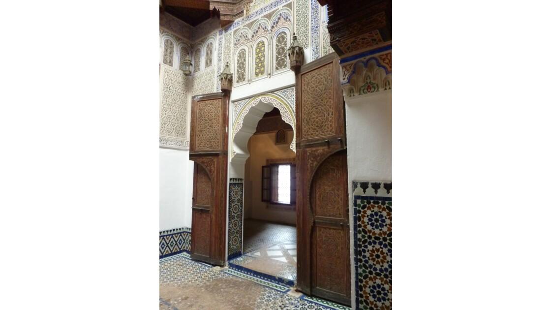 Musée Dar Jamaï de Meknès - Magnifiques boiseries, portes ciselées, céramiques et décors de stuc