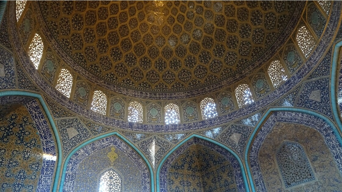 Iran Ispahan mosquée du Sheikh Lotfollah La salle de prière 1