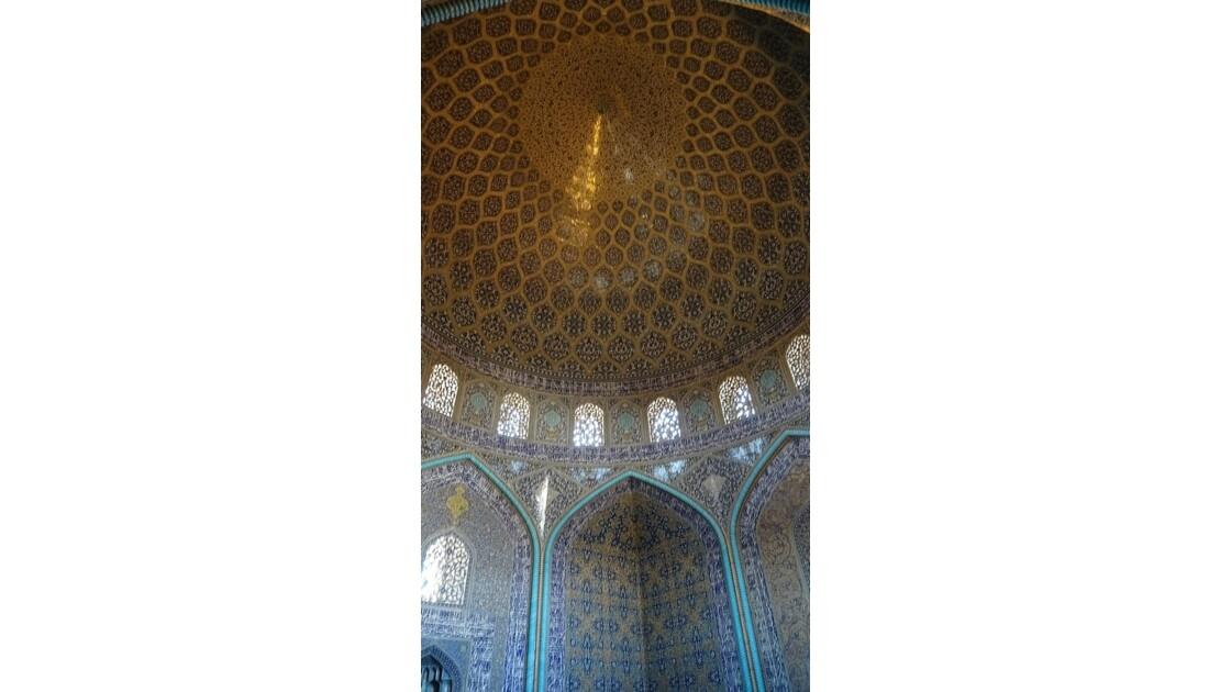 Iran Ispahan mosquée du Sheikh Lotfollah La salle de prière 2