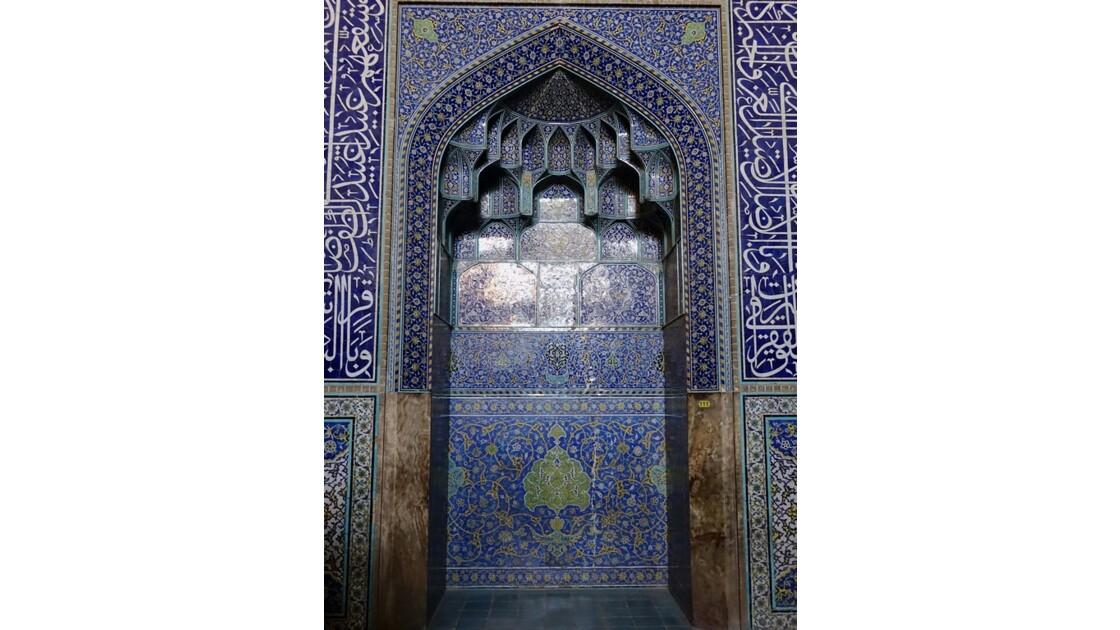 Iran Ispahan mosquée du Sheikh Lotfollah Mur de la salle de prière 2