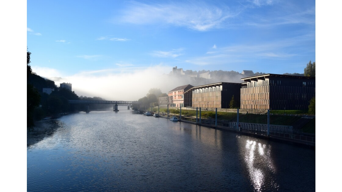 Besançon, capitale de la Franche-Comté, un matin de décembre 2016