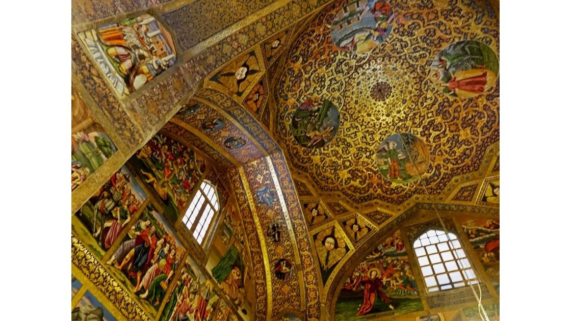 Iran Ispahan Djolfa Plafond de la Cathédrale Saint-Sauveur 2