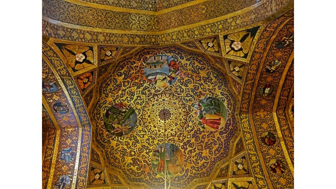 Iran Ispahan Djolfa Plafond de la Cathédrale Saint-Sauveur 3