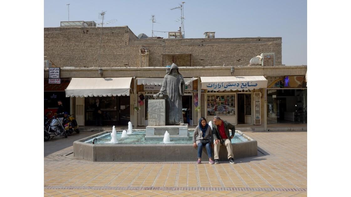 Iran Ispahan Djolfa Statue de Khachatour Kesaratsi 3