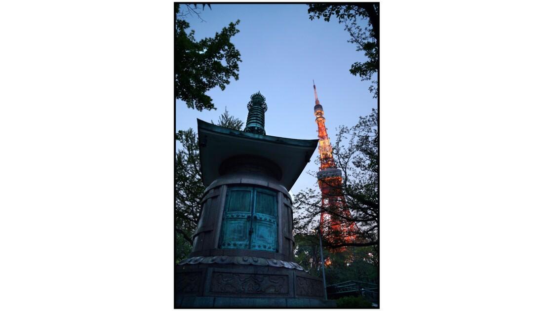 Tokyo - Minato - Temple Zōjō-ji et Tōkyō tawā
