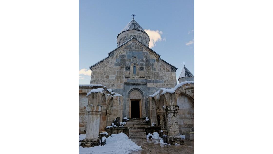 Arménie monastère de Haghartsine Entrée de Sourp Astvadzadzin