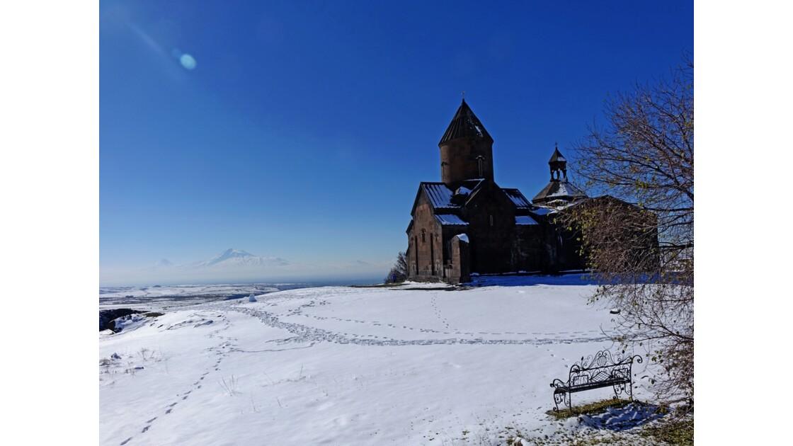 Arménie Monastère Saghmosavank et le mont Ararat  1