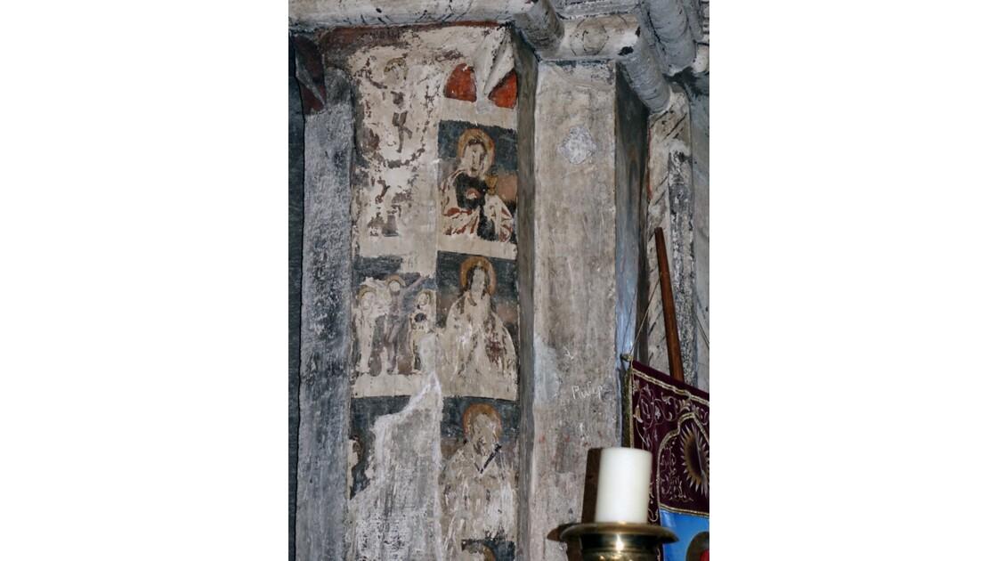 Arménie Monastère Saghmosavank Fresque de l'autel de Sourp Sion