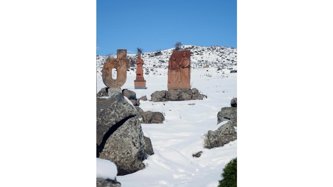 Arménie Tareri Purak - monument intitulé Alphabet créé en 405