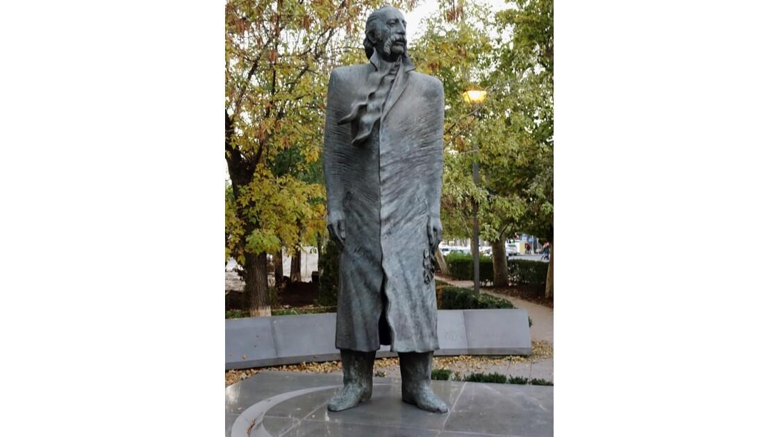 Arménie Erevan statue de l'écrivain William Saroyan 1