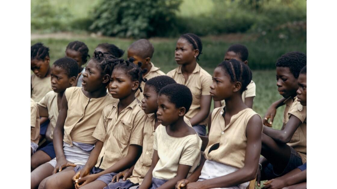 Congo 70 Région du pool Enregistrement d'une émission de TV éducative 12