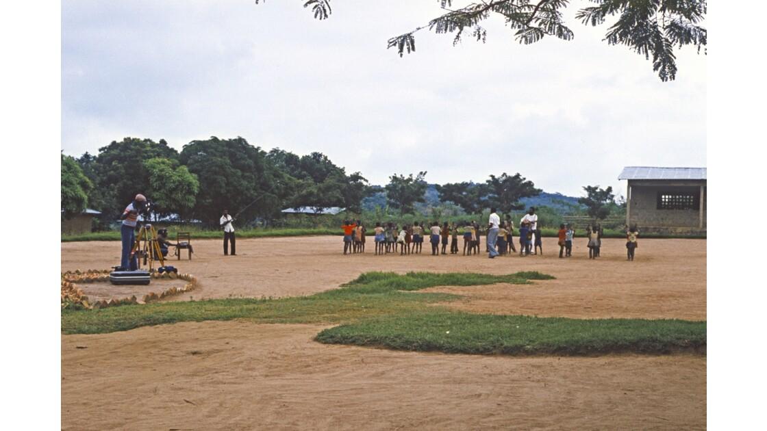 Congo 70 Région du pool Enregistrement d'une émission de Radio éducative 3