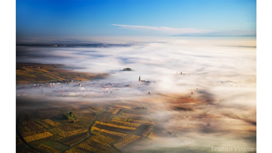 Mer de nuages sur Bergheim