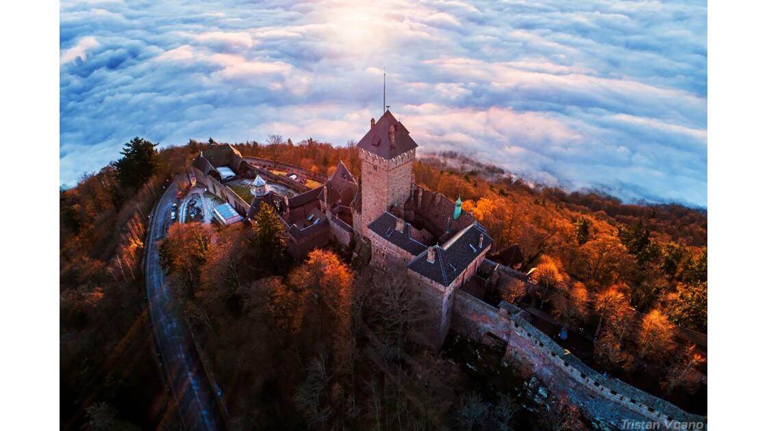 Lever de soleil au Haut-Koenigsbourg