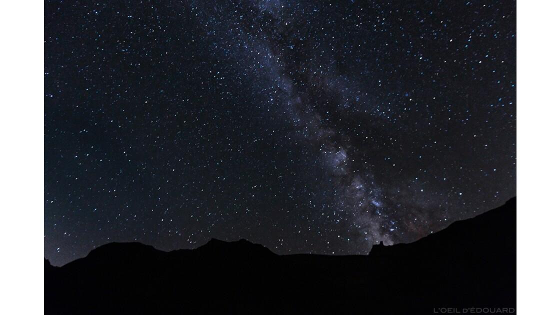 Ciel étoilé et voie lactée sur le Tour du Mont Thabor