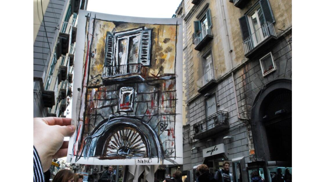 Façades architecturales de Naples