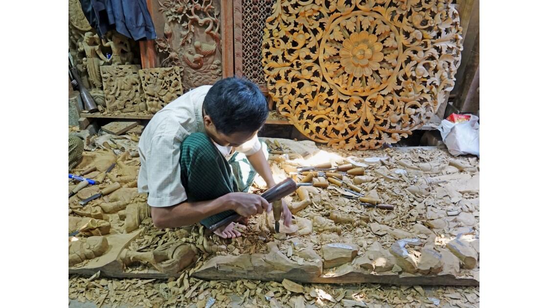 Myanmar Mandalay Les ateliers d'artisanat 1
