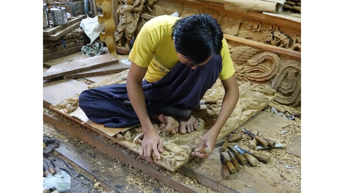 Myanmar Mandalay Les ateliers d'artisanat 3