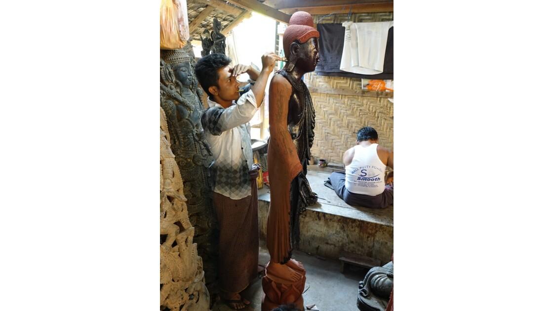Myanmar Mandalay Les ateliers d'artisanat 5