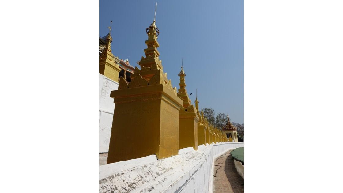 Myanmar Sagaing  Terrasse de Hsun U Ponnya Shin