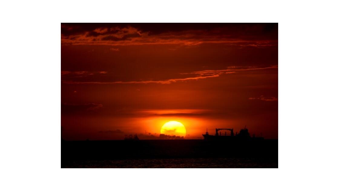 coucher de soleil Manille