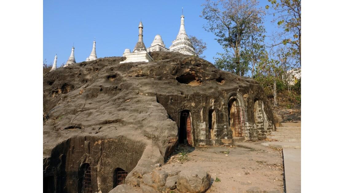 Myanmar Po Win Taung Niches et cellules de médidation 4