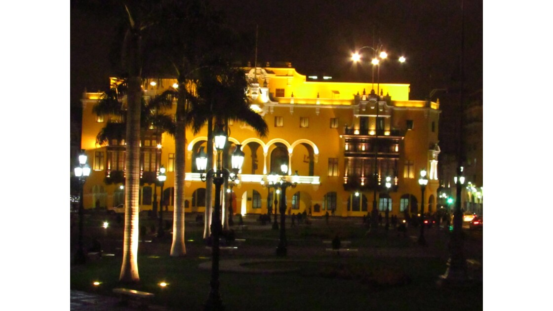 Plaza de Armas, Lima by night