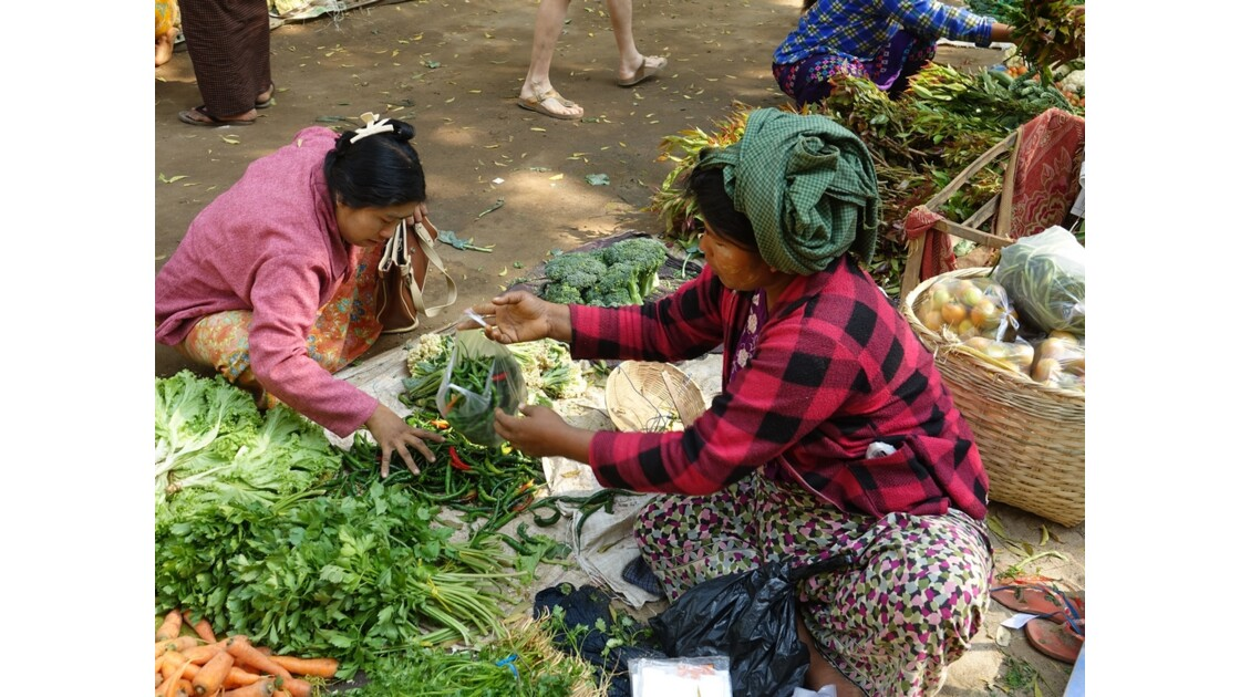 Myanmar Bagan marché de  Nyuang U 3