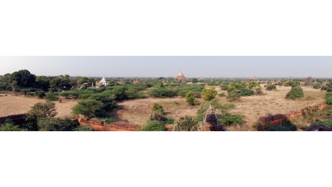 Myanmar Bagan Vue du temple de Thitsarwadi 1