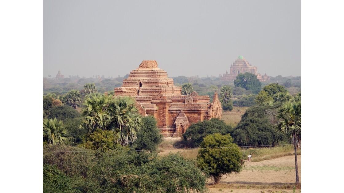 Myanmar Bagan Vue du temple de Thitsarwadi 2