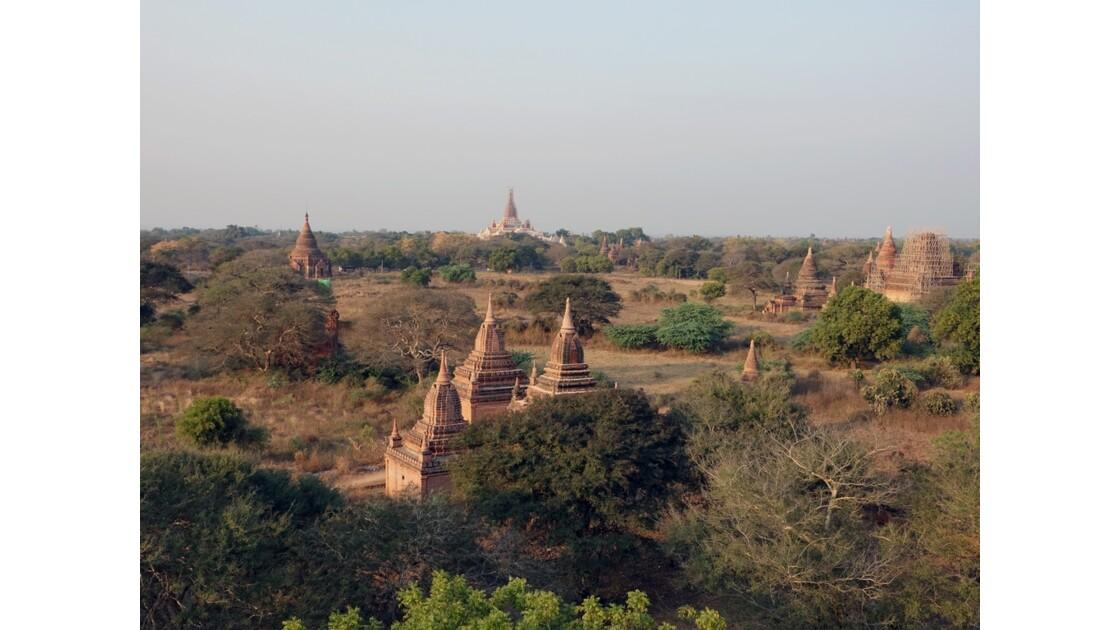 Myanmar Bagan au crépuscule depuis la pagode Shwesandaw 3