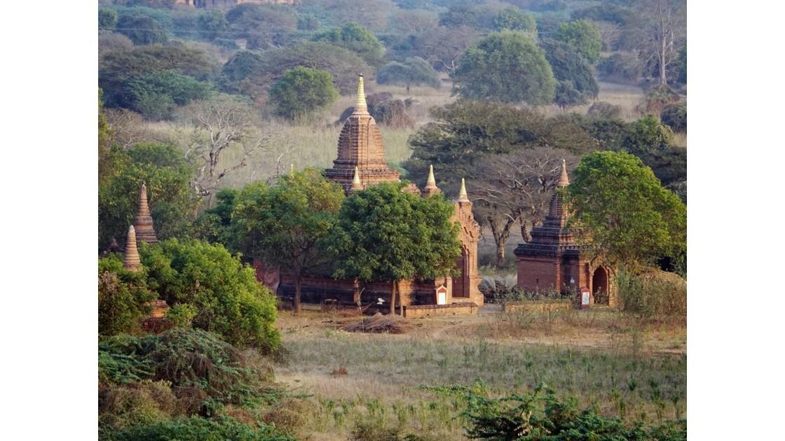 Myanmar Bagan au crépuscule depuis la pagode Shwesandaw 4