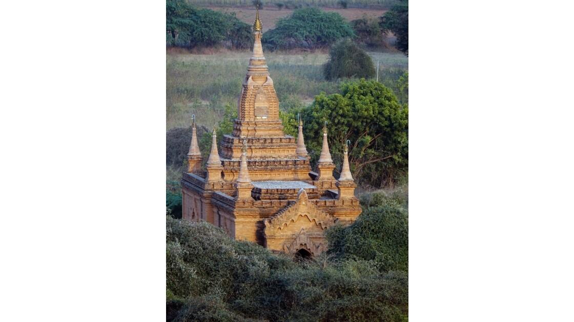 Myanmar Bagan au crépuscule depuis la pagode Shwesandaw 5