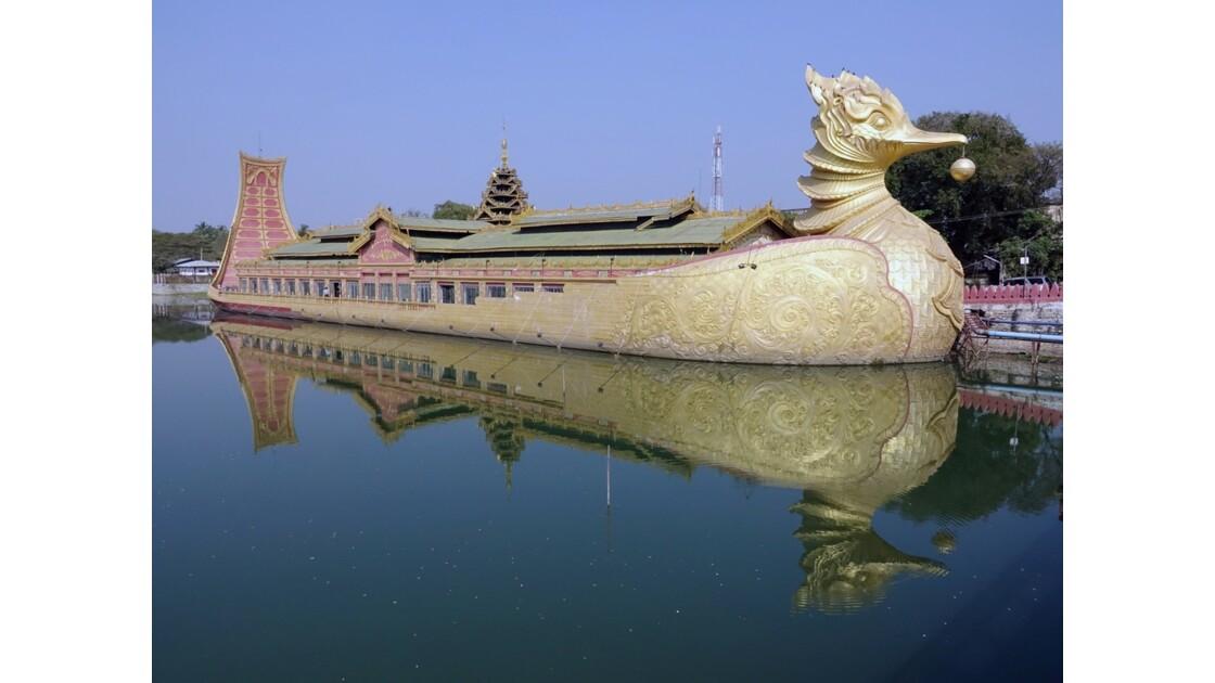 Myanmar Meiktila Le bateau royal 1