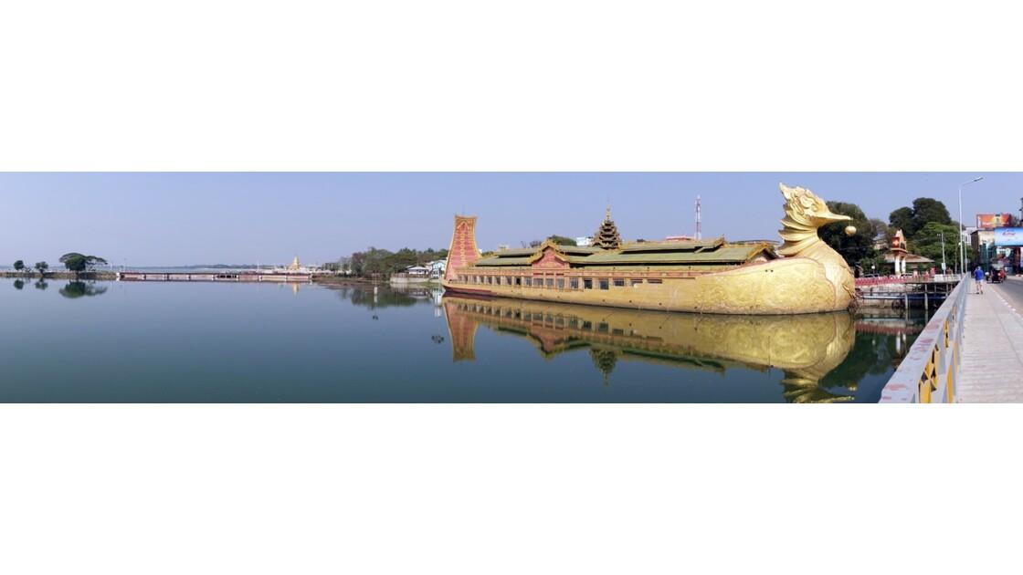 Myanmar Meiktila Le bateau royal 2