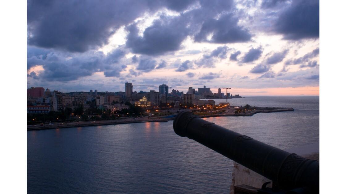 Coucher de soleil sur La Havane