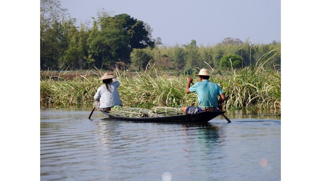 Myanmar Canal entre le lac Sagar et le lac Inlé 2