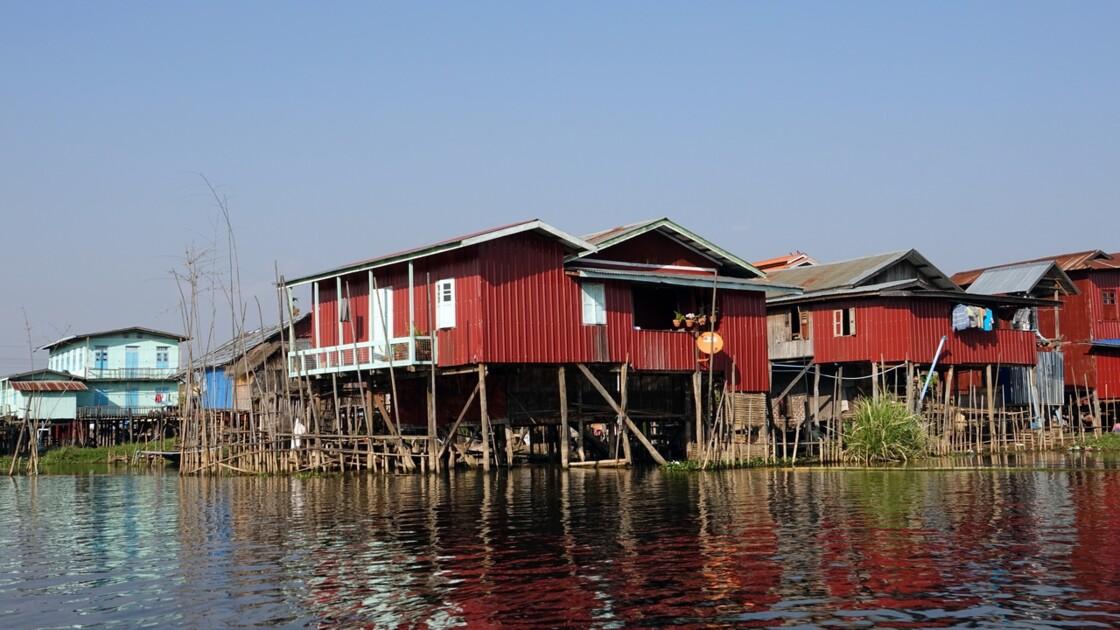 Myanmar Canal entre le lac Sagar et le lac Inlé 13
