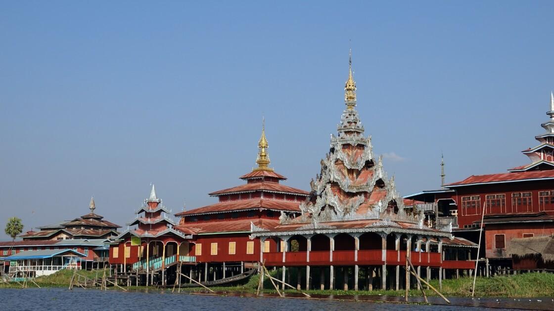 Myanmar Canal entre le lac Sagar et le lac Inlé 15