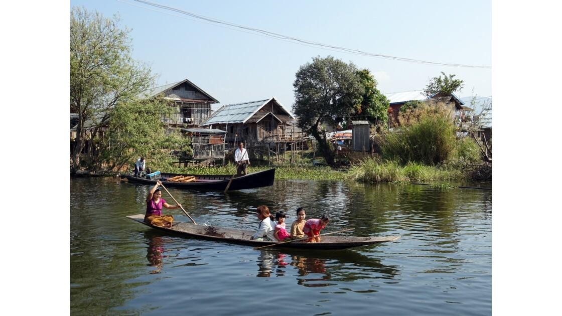 Myanmar lac Inlé Entre Ywana et Nampan 2