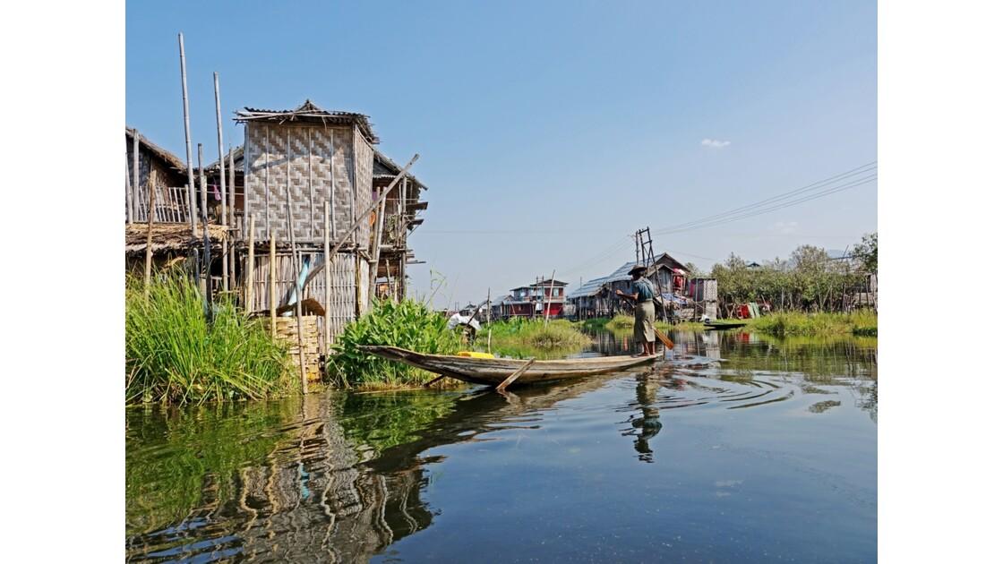 Myanmar lac Inlé Entre Ywana et Nampan 11