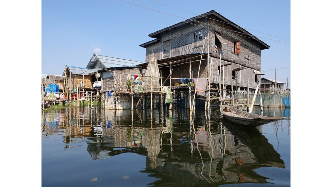 Myanmar lac Inlé Entre Ywana et Nampan 14