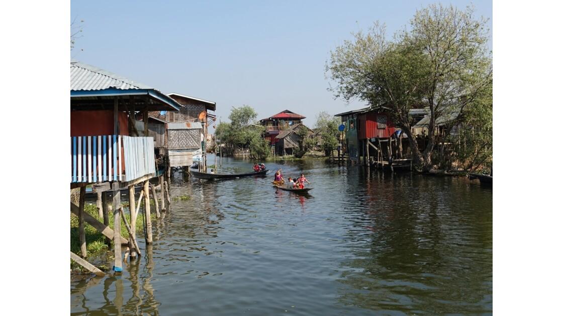 Myanmar lac Inlé Entre Ywana et Nampan 1