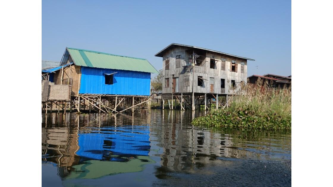 Myanmar Lac Inlé Sur les canaux de Nampan 1