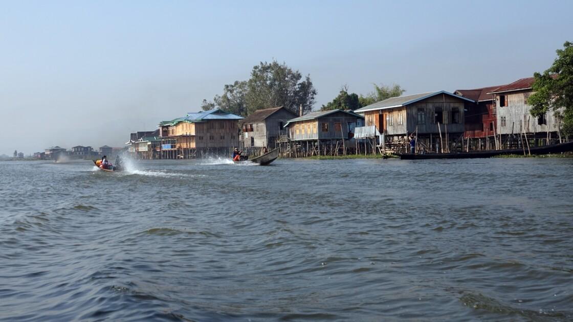 Myanmar Lac Inlé Vers Inpawkhon 1
