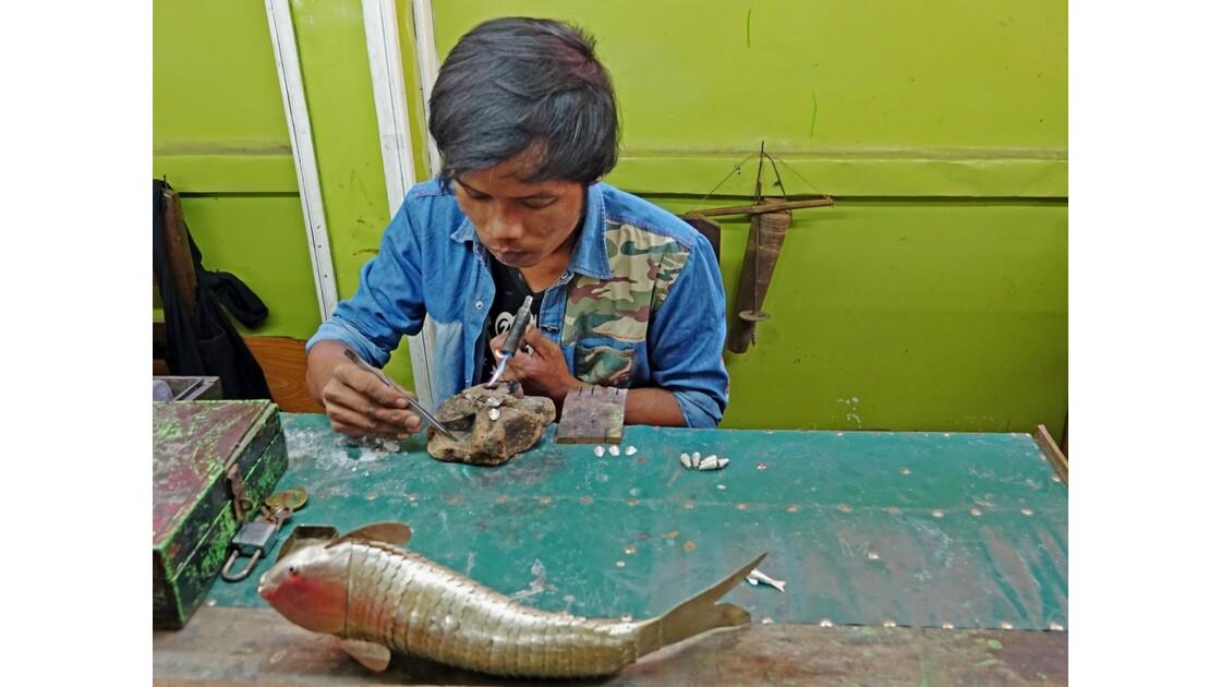 Myanmar Lac Inlé Ywama Atelier d'orfévrerie 4