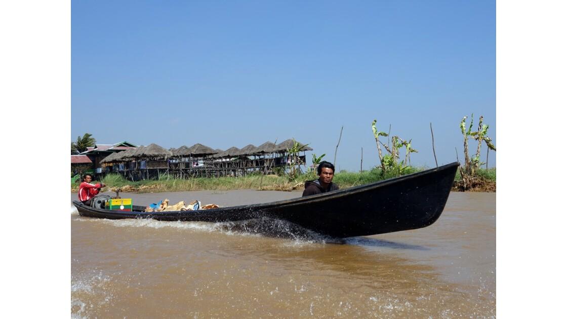 Myanmar Lac Inlé Entre Nampan et Ywama 2