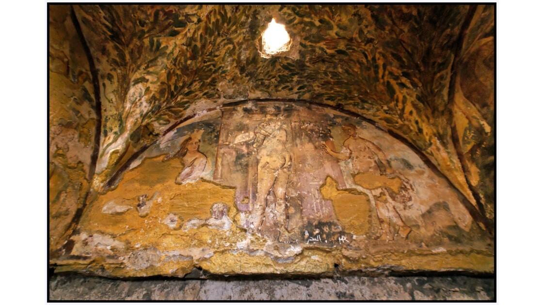 Qasr Amra - Fresque du Tepidarium